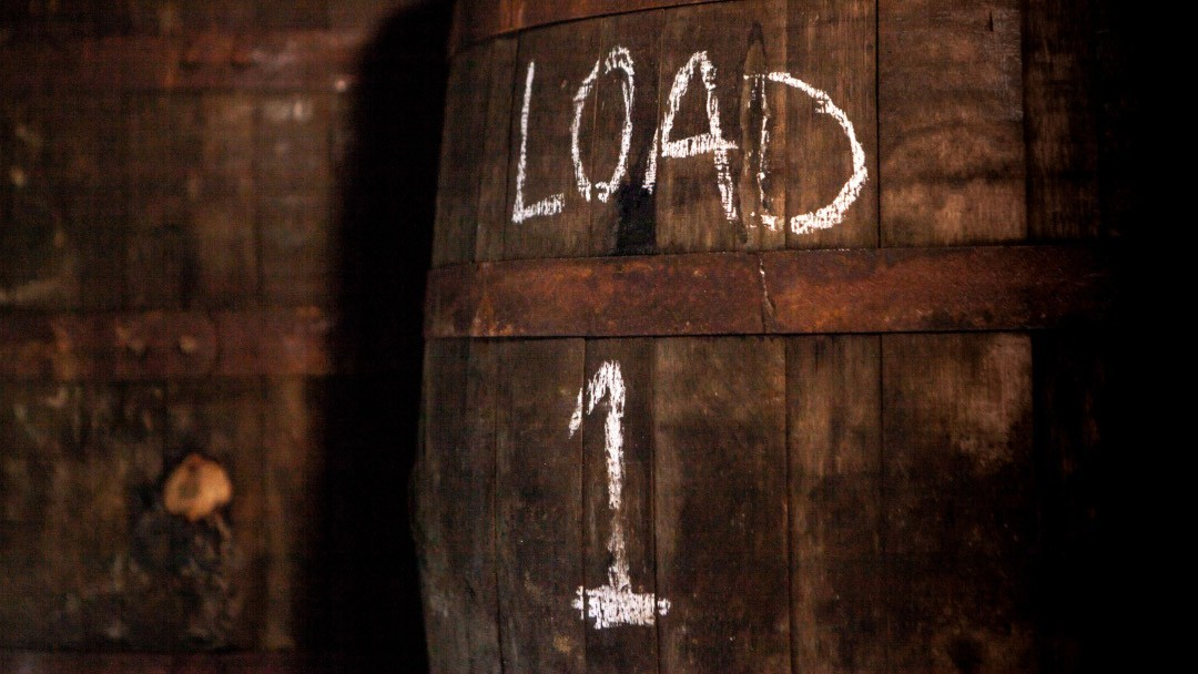 cask with chalk writing